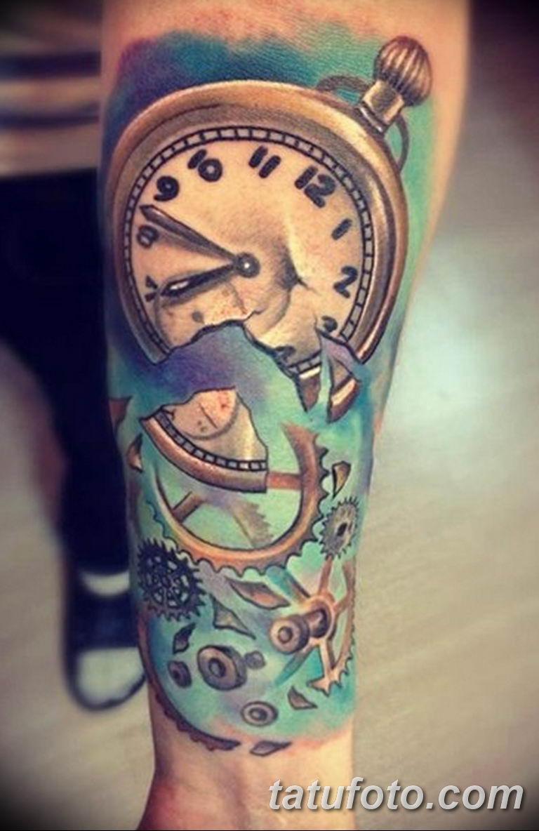 Фото ттату время (часы) 16.04.2019 №377 - tattoo time (hours) - tatufoto.com