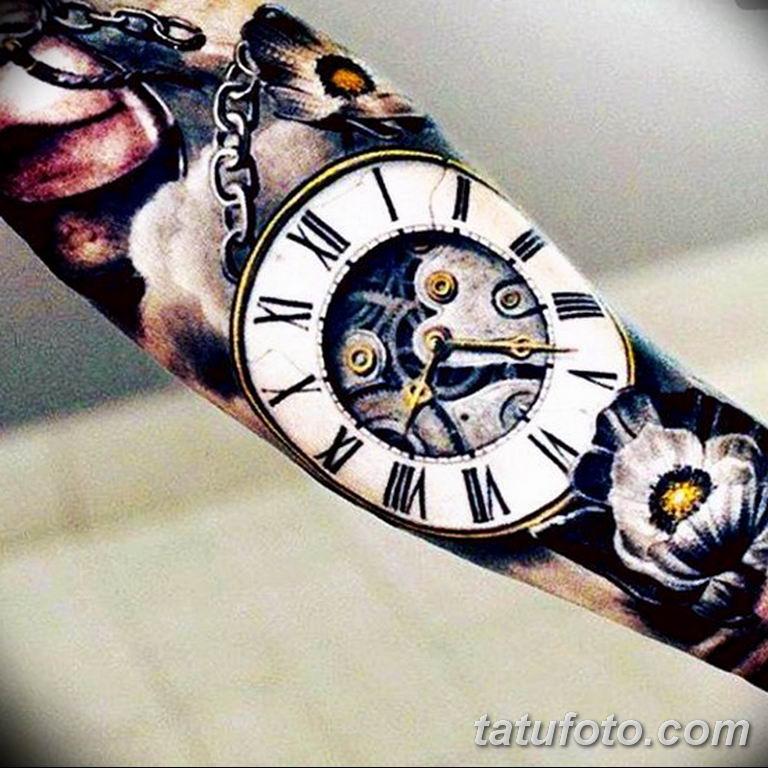 Фото ттату время (часы) 16.04.2019 №381 - tattoo time (hours) - tatufoto.com