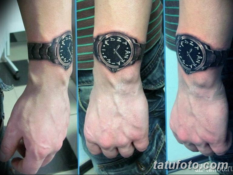 Фото ттату время (часы) 16.04.2019 №392 - tattoo time (hours) - tatufoto.com