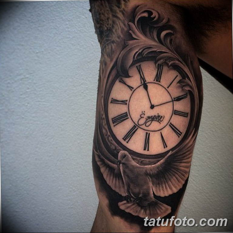 Фото ттату время (часы) 16.04.2019 №400 - tattoo time (hours) - tatufoto.com