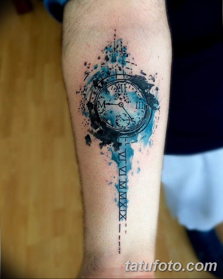 Фото ттату время (часы) 16.04.2019 №404 - tattoo time (hours) - tatufoto.com