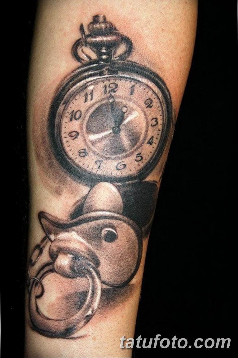 Фото ттату время (часы) 16.04.2019 №411 - tattoo time (hours) - tatufoto.com
