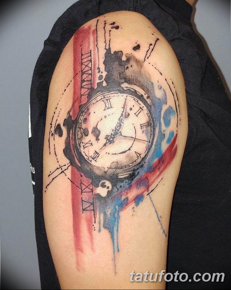 Фото ттату время (часы) 16.04.2019 №418 - tattoo time (hours) - tatufoto.com