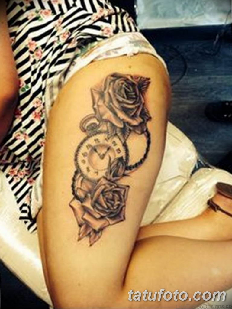 Фото ттату время (часы) 16.04.2019 №421 - tattoo time (hours) - tatufoto.com