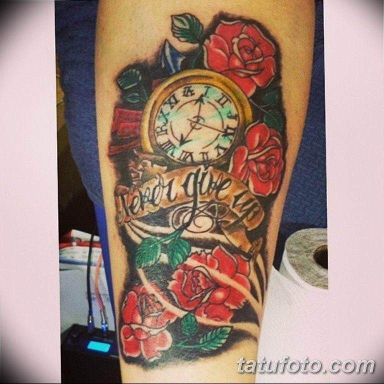 Фото ттату время (часы) 16.04.2019 №432 - tattoo time (hours) - tatufoto.com