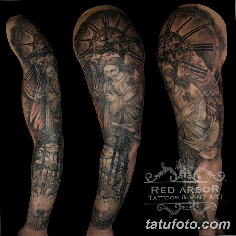 Фото ттату время (часы) 16.04.2019 №456 - tattoo time (hours) - tatufoto.com