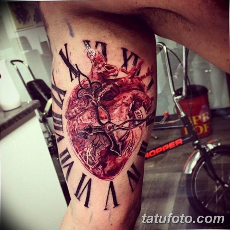 Фото ттату время (часы) 16.04.2019 №459 - tattoo time (hours) - tatufoto.com