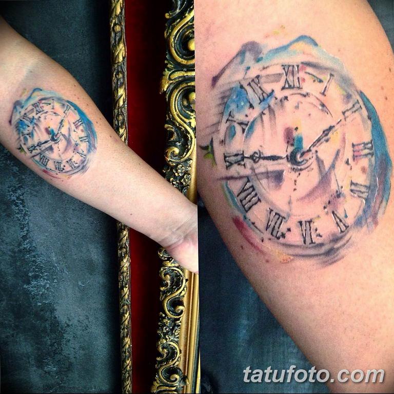 Фото ттату время (часы) 16.04.2019 №474 - tattoo time (hours) - tatufoto.com