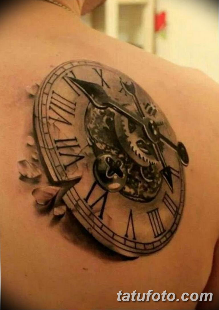 Фото ттату время (часы) 16.04.2019 №486 - tattoo time (hours) - tatufoto.com