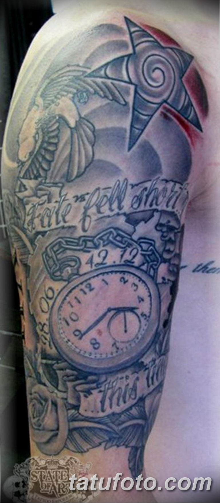 Фото ттату время (часы) 16.04.2019 №495 - tattoo time (hours) - tatufoto.com