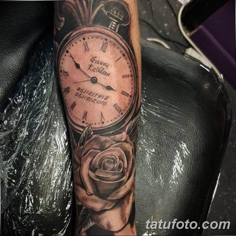 Фото ттату время (часы) 16.04.2019 №497 - tattoo time (hours) - tatufoto.com