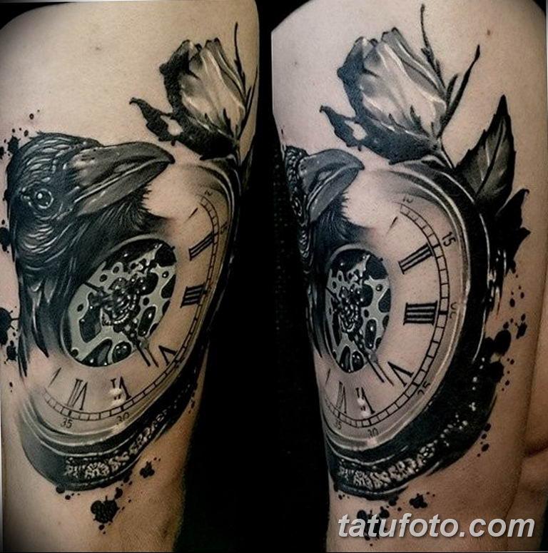 Фото ттату время (часы) 16.04.2019 №507 - tattoo time (hours) - tatufoto.com