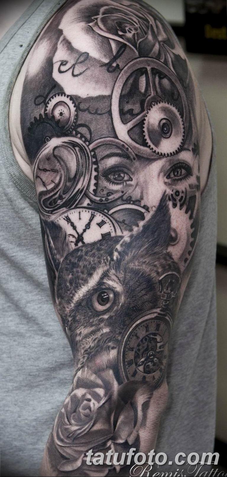 Фото ттату время (часы) 16.04.2019 №508 - tattoo time (hours) - tatufoto.com