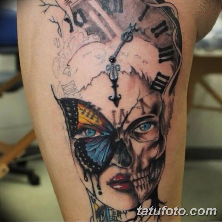 Фото ттату время (часы) 16.04.2019 №518 - tattoo time (hours) - tatufoto.com