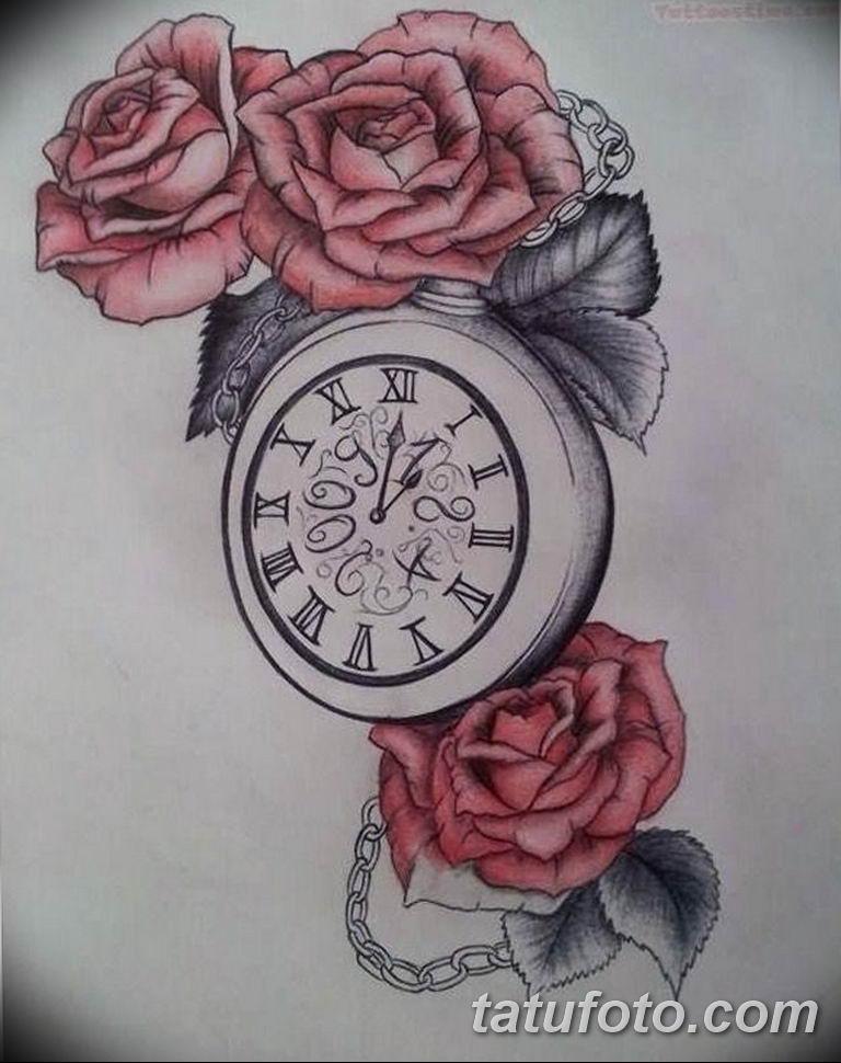Фото ттату время (часы) 16.04.2019 №534 - tattoo time (hours) - tatufoto.com