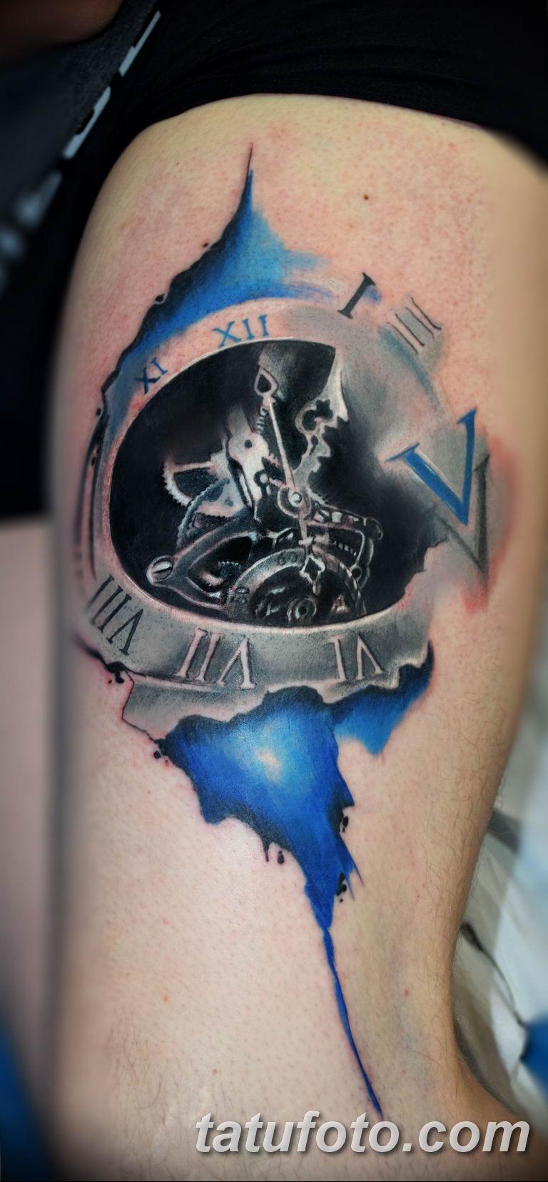 Фото ттату время (часы) 16.04.2019 №535 - tattoo time (hours) - tatufoto.com