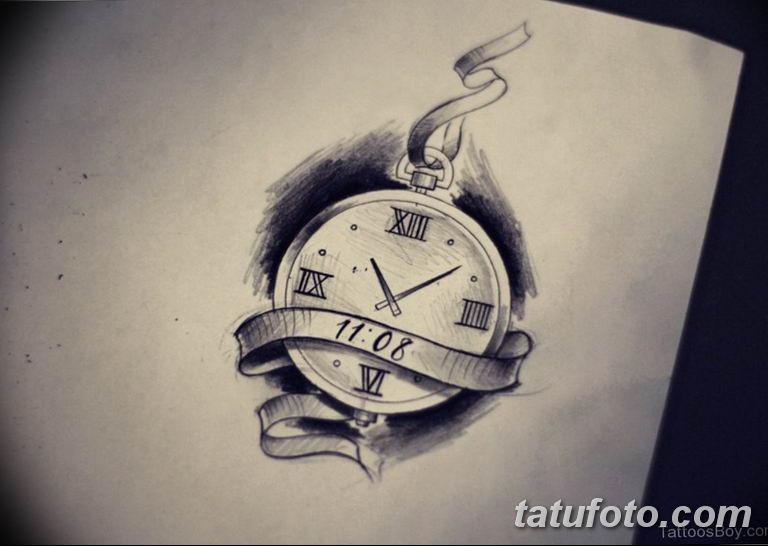 Фото ттату время (часы) 16.04.2019 №541 - tattoo time (hours) - tatufoto.com
