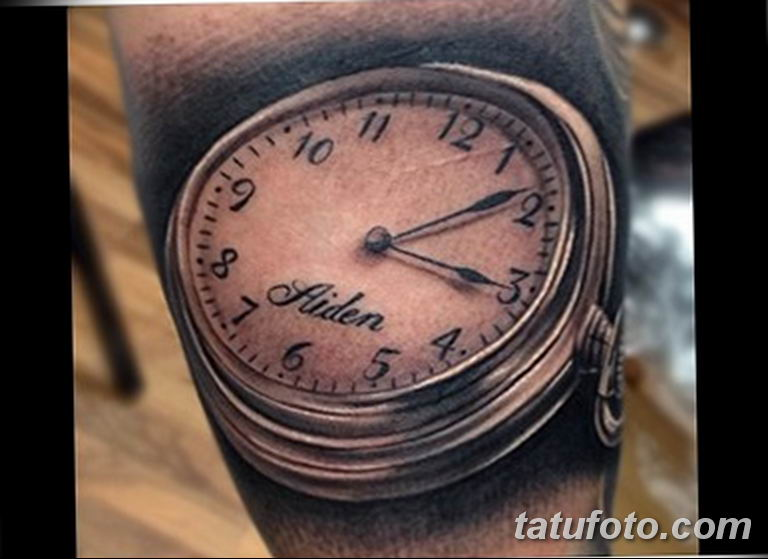 Фото ттату время (часы) 16.04.2019 №544 - tattoo time (hours) - tatufoto.com