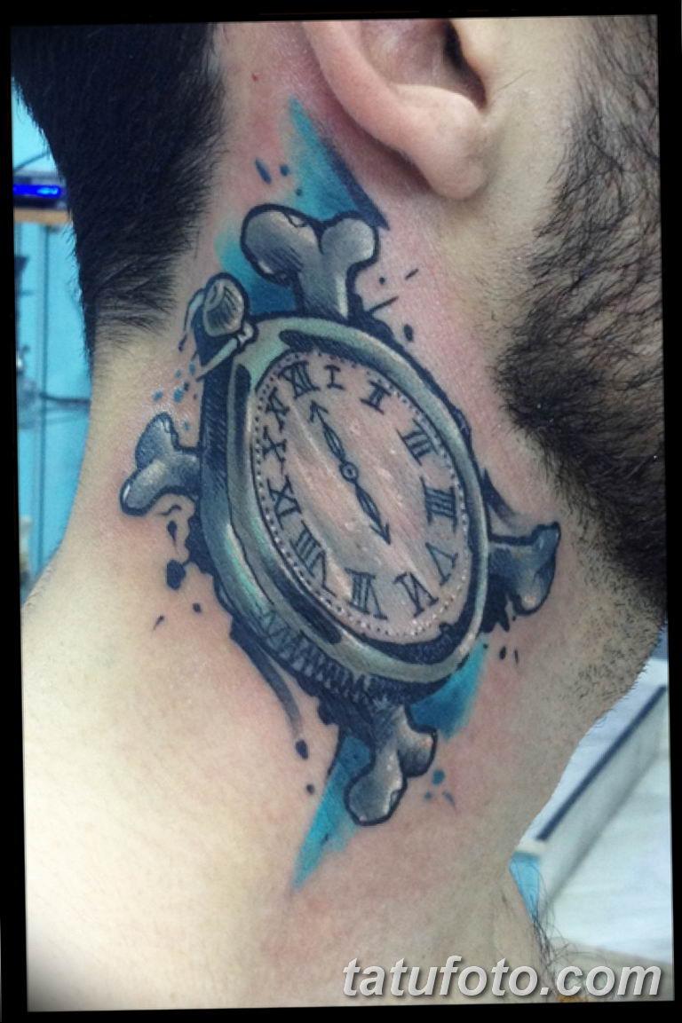 Фото ттату время (часы) 16.04.2019 №546 - tattoo time (hours) - tatufoto.com