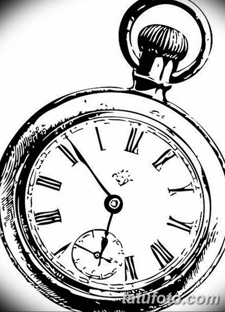 Фото ттату время (часы) 16.04.2019 №548 - tattoo time (hours) - tatufoto.com