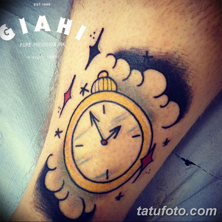 Фото ттату время (часы) 16.04.2019 №556 - tattoo time (hours) - tatufoto.com