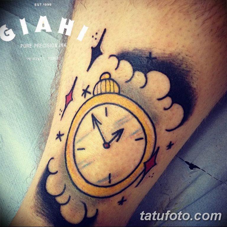 Фото ттату время (часы) 16.04.2019 №556 - tattoo time (hours) - tatufoto.com