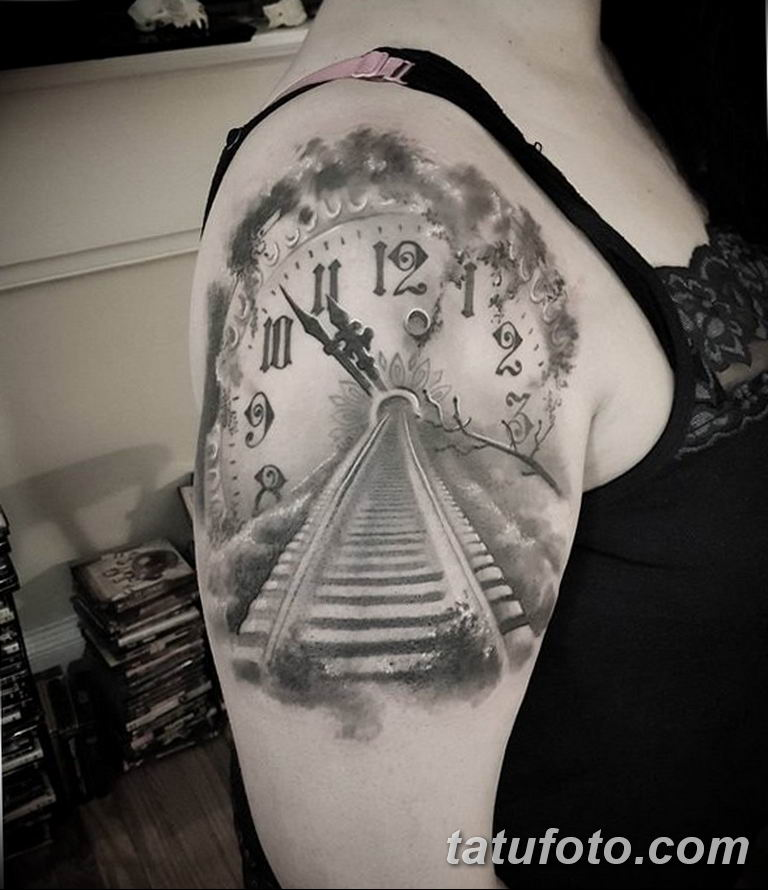 Фото ттату время (часы) 16.04.2019 №558 - tattoo time (hours) - tatufoto.com