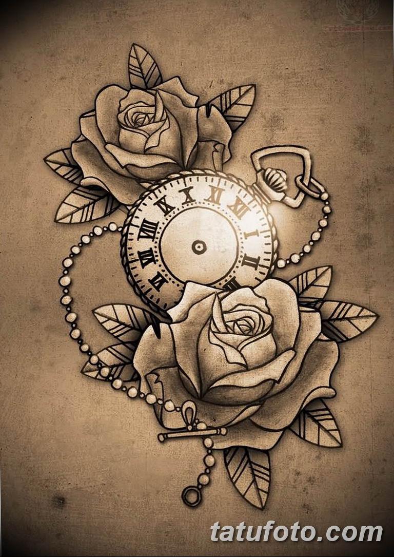 Фото ттату время (часы) 16.04.2019 №566 - tattoo time (hours) - tatufoto.com