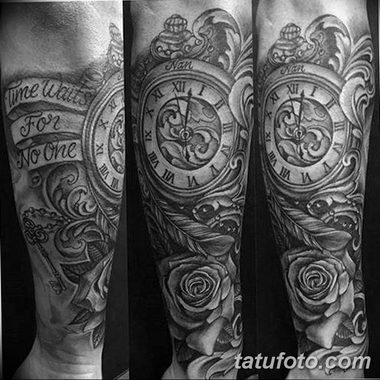 Фото ттату время (часы) 16.04.2019 №574 - tattoo time (hours) - tatufoto.com