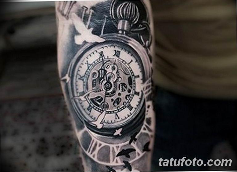 Фото ттату время (часы) 16.04.2019 №591 - tattoo time (hours) - tatufoto.com