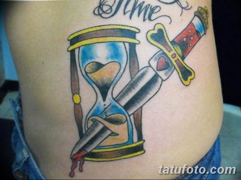 Фото ттату время (часы) 16.04.2019 №617 - tattoo time (hours) - tatufoto.com