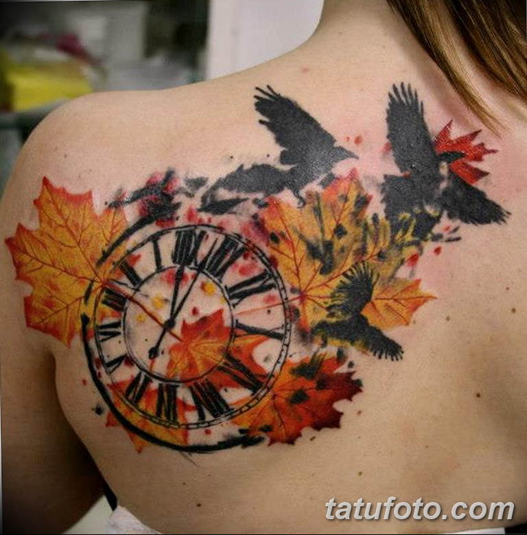 Фото ттату время (часы) 16.04.2019 №628 - tattoo time (hours) - tatufoto.com