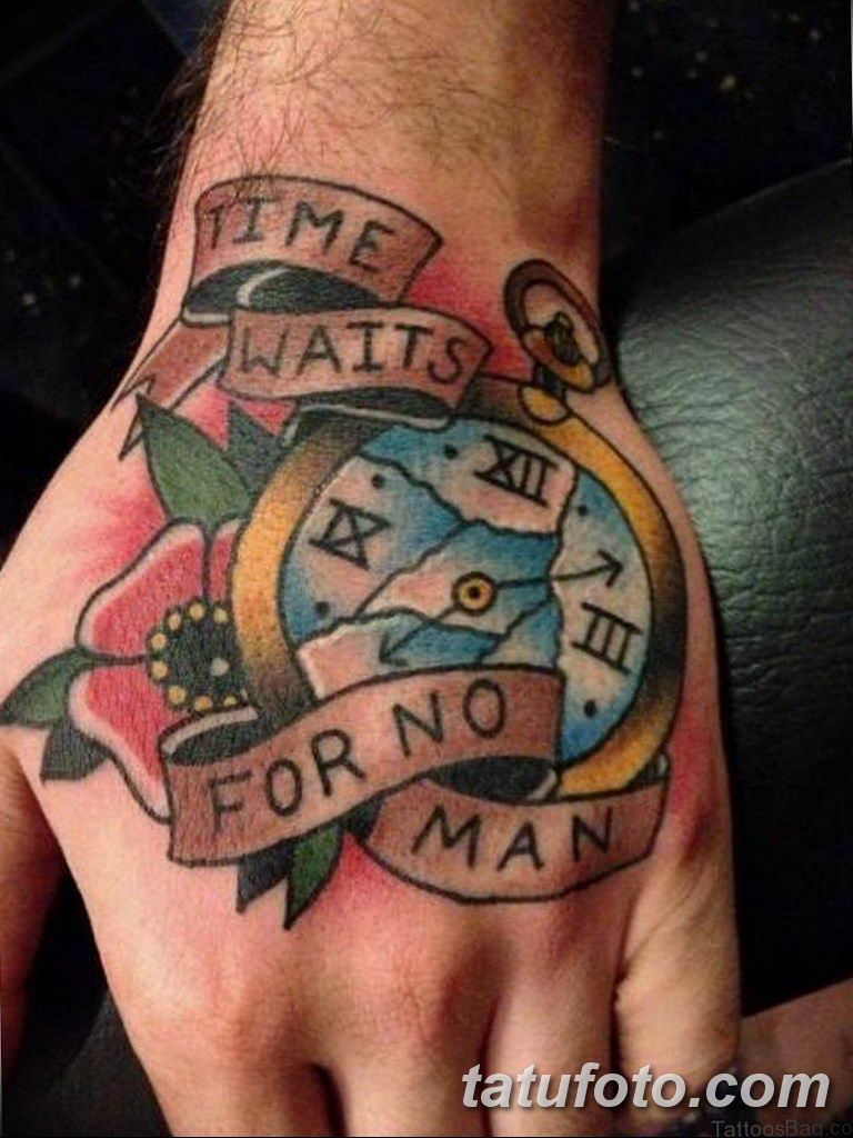 Фото ттату время (часы) 16.04.2019 №634 - tattoo time (hours) - tatufoto.com