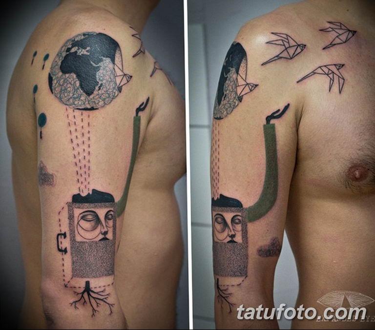 фото необычных и прикольных тату 27.04.2019 №051 - funny tattoos - tatufoto.com