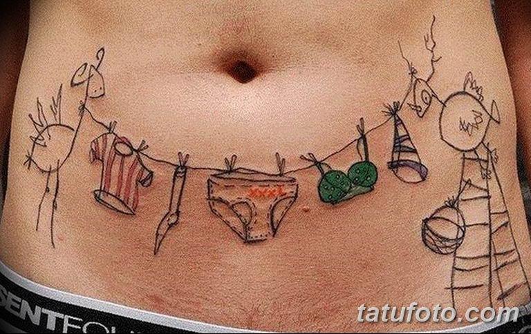 фото необычных и прикольных тату 27.04.2019 №053 - funny tattoos - tatufoto.com