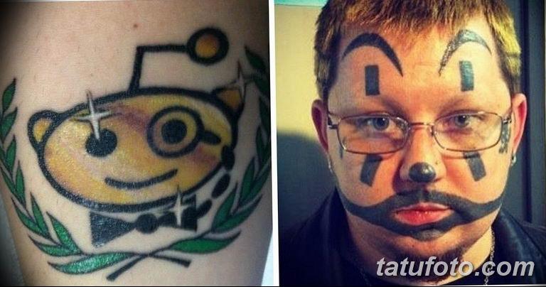фото не самых удачных тату рисунков 27.04.2019 №168 - unsuccessful tattoos - tatufoto.com