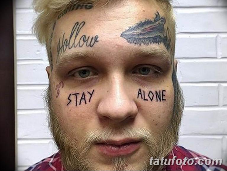 фото тату на лице 29.04.2019 №003 - face tattoo - tatufoto.com