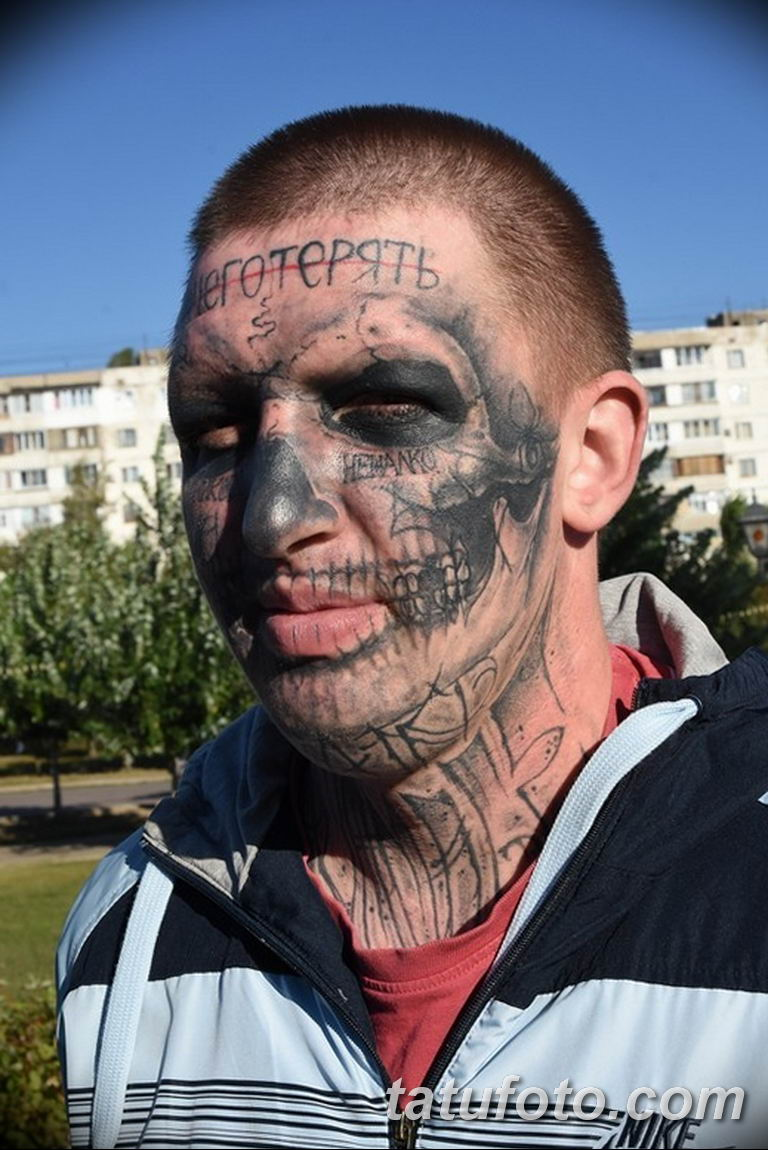 фото тату на лице 29.04.2019 №031 - face tattoo - tatufoto.com