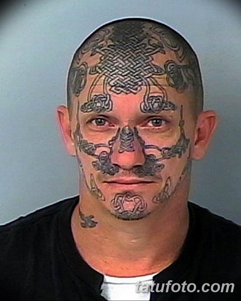 фото тату на лице 29.04.2019 №045 - face tattoo - tatufoto.com