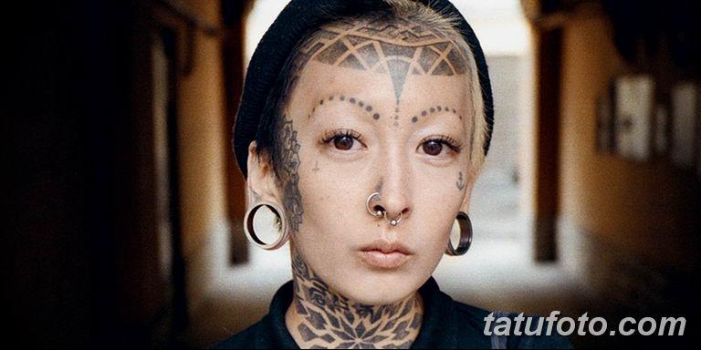 фото тату на лице 29.04.2019 №075 - face tattoo - tatufoto.com