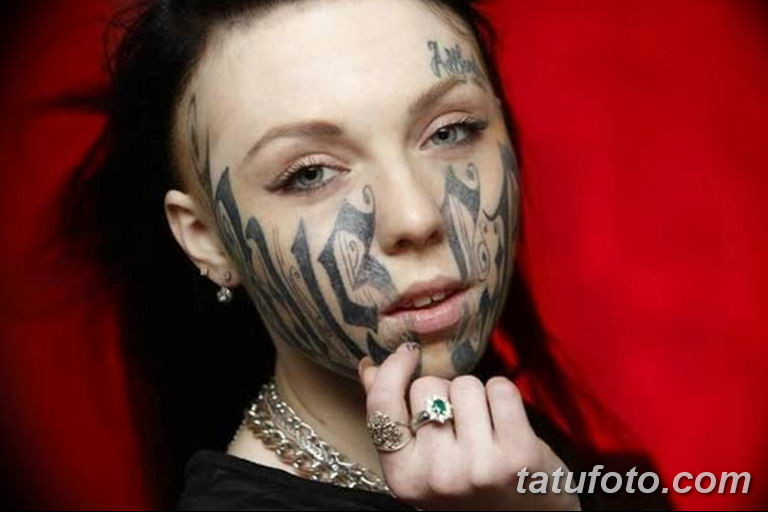 фото тату на лице 29.04.2019 №122 - face tattoo - tatufoto.com