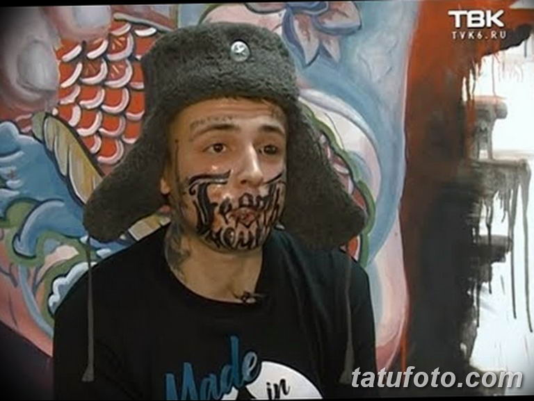фото тату на лице 29.04.2019 №133 - face tattoo - tatufoto.com