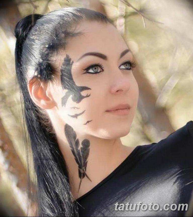 фото тату на лице 29.04.2019 №161 - face tattoo - tatufoto.com
