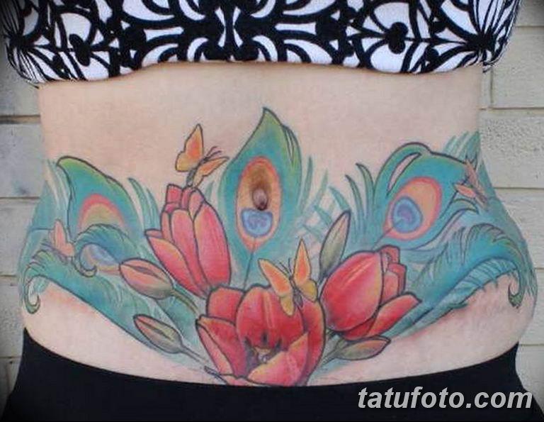 фото тату на шраме 29.04.2019 №047 - scar tattoo - tatufoto.com