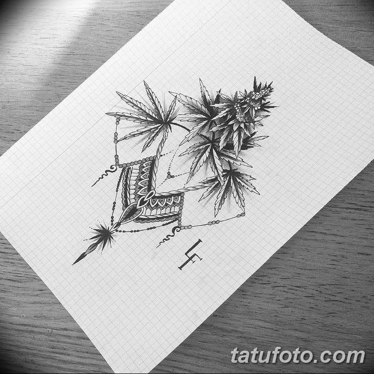 фото эскизы тату марихуана (конопля) 27.04.2019 №007 - tattoo marijuana - tatufoto.com