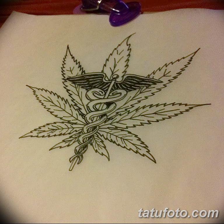 Эскизы тату конопля (марихуана)