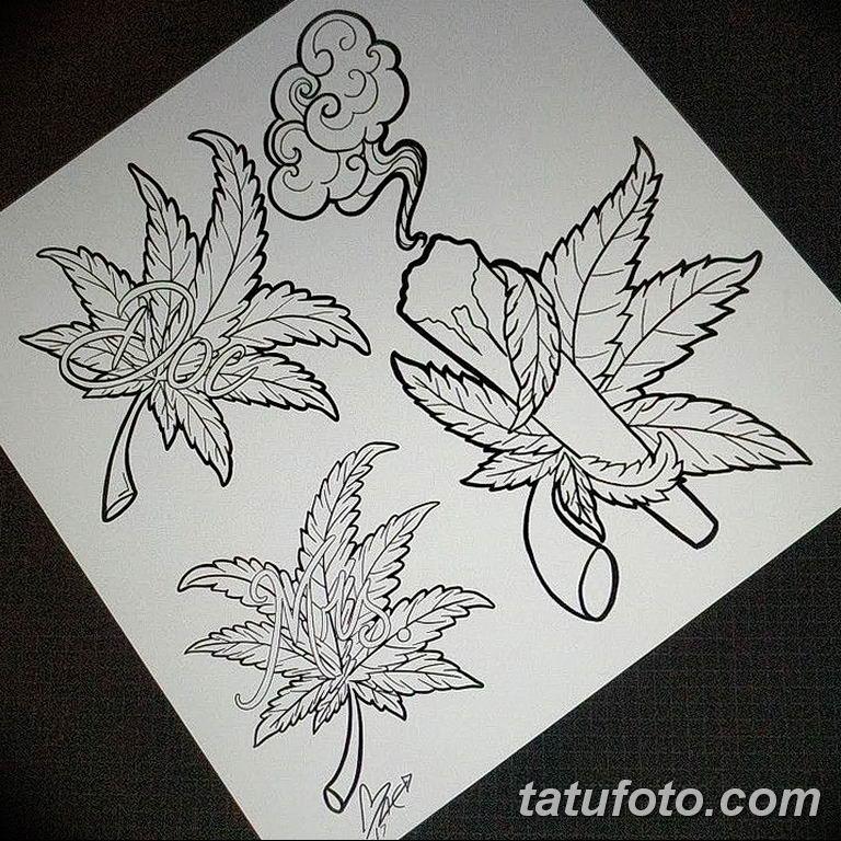 фото эскизы тату марихуана (конопля) 27.04.2019 №018 - tattoo marijuana - tatufoto.com