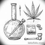 фото эскизы тату марихуана (конопля) 27.04.2019 №023 - tattoo marijuana - tatufoto.com