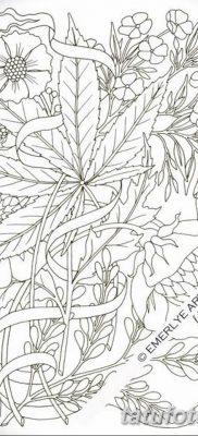фото эскизы тату марихуана (конопля) 27.04.2019 №067 – tattoo marijuana – tatufoto.com
