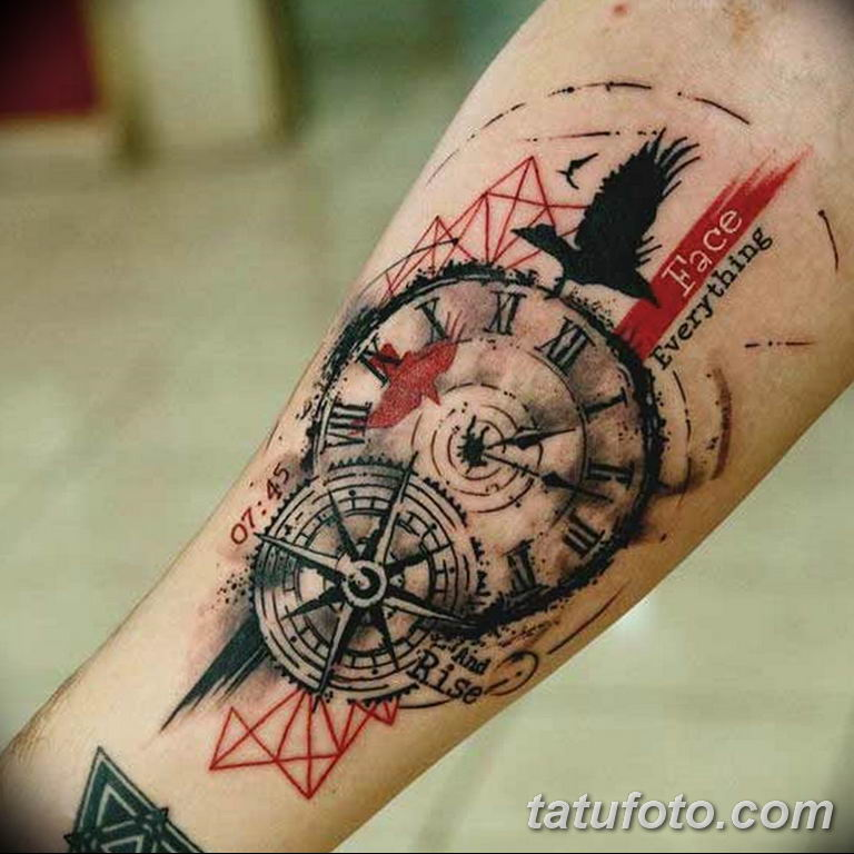 Фото ттату время (часы) 16.04.2019 №131 - tattoo time (hours) - tatufoto.com
